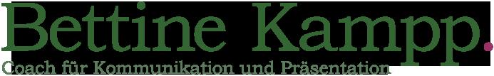 Bettine Kampp - Coach für Kommunikation und Präsentation